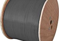 XC1601503 * Cablu coaxial DIGI-SAT 3011, 75 Ohm, PE negru, tambur 500m