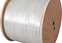 XC1608913 * Cablu coaxial DIGI-SAT 3000, 75 Ohm, LS0H, alb, tambur 500m