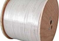 XC1609803 * Cablu coaxial DIGI-SAT 3040, 75 Ohm, PVC alb, tambur 500m