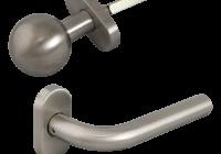 YH-D90O * Set manere cu clanta tubulara si buton fix drept, cu rozete ovale, ax 90