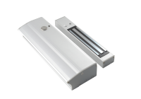 YM-280T(LED)H * Electromagnet aplicabil de 280kgf, cu maner pentru usi cu deschidere in interior si cu led de stare